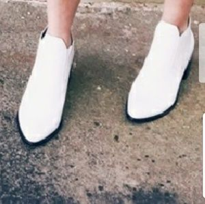 white ankle booties size 8.5 NWOB